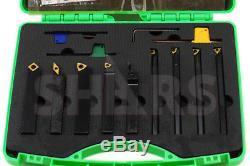 Shars 1/2 x 1/2 x 3.5 Turning Tool Holder & 3/8 x 5 Boring Bar 9pcs Set New