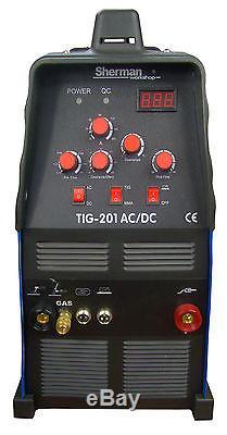 Sherman TIG 201 AC/DC 200Amp Welder Aluminium Inverter MMA for Garages Workshops