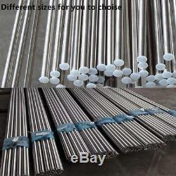 Stainless Steel 304 Round Metal Bar Solid Rod Metal Milling Welding Metalworking