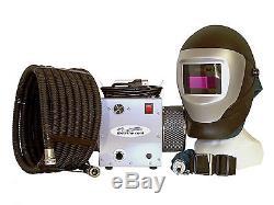 Supplied air respirator withauto darkening welding helmet