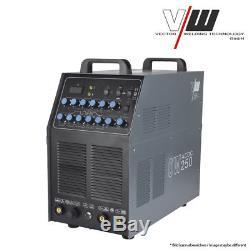 VECTOR Schweißgerät AC/DC WIG OW 250 Puls M. Plasma ALU Inverter MMA Elektrode