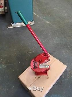 WNS Sheet Metal Throatless Shear Curved Blade Cropper Cutter Guillotine 100mm