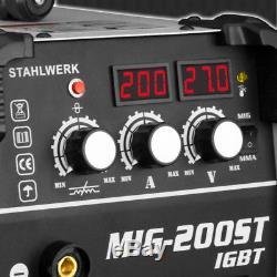 Welder STAHLWERK MIG MAG 200 ST IGBT SHIELDING GAS & FLUX GASLESS CORED WIRE