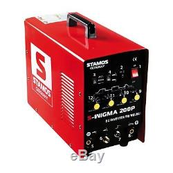 Welder TIG arc mma 200Amp welding machine stick mask inverter Pulse hf start kit