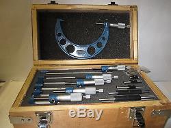 0-6 Précision Micromètre Extérieur Set 0.0001 Carbure Standards 6pcs / Set-new