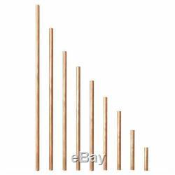 16 MM Diamètre Cuivre Barre Ronde Tige De Fraisage Travail Des Métaux Soudage 50-500mm Longueur