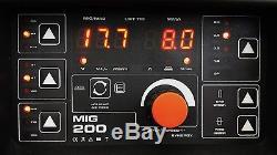 200 Ampères Mig / Mag / Flux / Tig / Mma / Arc 5 Dans 1 Soudeuse À Onduleur DC Igbt + Accessoires