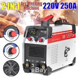 220v 7000w 2in1 Tig / Arc Soudeuse Kit Inverseur Ws-250 De 250a Mma Igbt