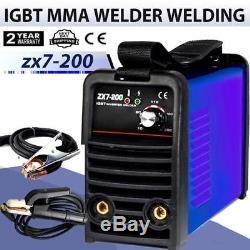 240v 200a Igbt Onduleur Mma / Arc Soudeuse Support De Soudage Machine À Souder + Câble