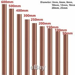 3 MM De Dia. Barre Ronde Cuivre Rod Fraisage De Soudage Des Métaux T