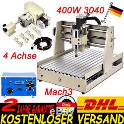 4 Achse Cnc Routeur Graviermaschine 3040 Mach3 Fräsmaschine Gravurmaschine 400w