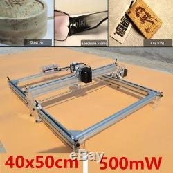 40x50cm 500mw Diy Laser Gravure Machine Cnc Bureau En Bois Logo Cutter Graveur