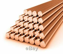50-500mm Copper Round Bar Rod Fraisage Soudage Travail Des Métaux T2 Cuivre