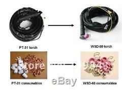 50a Plasma Cutter Pilot Arc & Wsd60 Torche Cnc Compatible Et Consommables Et Tva