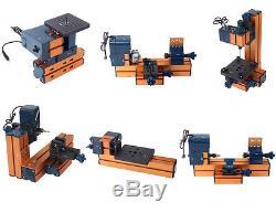 6 En 1 Mini Machine Polyvalente Outil Bricolage Bois Métal Tour Kit De Forage De Forage