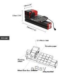 6 En 1 Mini-bois Métal Motorisé Tour Machine À Bois Hobby Bricolage Ensemble D'outils