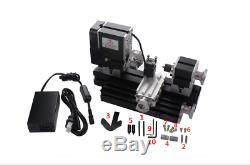 60w 12000 R / Min De Haute Qualité Motorisé Mini Machine De Tour De Travail Des Métaux Outil De Bricolage