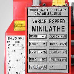 7x12 Mini Tour Métal Travail Du Bois Bricolage Traitement Perçage Fraisage