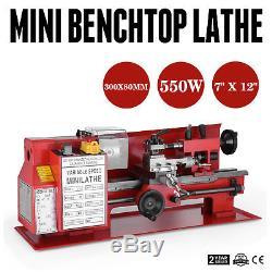 7x12 Mini-moteur De CC De Broche De Travail Du Bois De Travail Des Métaux De Tour En Métal Motorisé