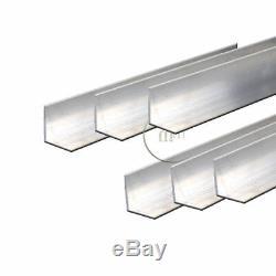 Aluminium Égal Angle Bar 1 X 1 X 1/16 Diamètre De Fraisage / Soudage / Travail Des Métaux