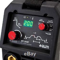 Awm Mt-200p Schweißgerät Igbt Onduleur Mma Wig Tig CC Impulsions Hf 2t 4t Démarrage À Chaud