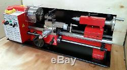 Cj18a Mini Tour Rouge Paquet 4 Machine Neuve 7x14 Avec Dro & 4