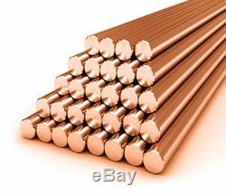 Copper Round Bar / Rod 10mm Diamètre De Fraisage / Soudage / Travail Des Métaux