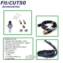 Cut50 Plasma Cutter 50a Inverter Digital & Accessoires 230v & Torches 1-12mm Cut