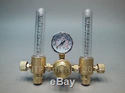 Dual Htp Argon Co2 Débitmètre Mig Tig Régulateur Soudure Soudure Double Backpurge
