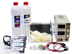 Eloxal-starter-set Avec 2 Ampere-netzteil Ganz Einfach Selbst Eloxieren