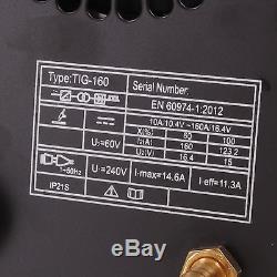 Hawk Tools Professionnel 230 V DC Inverter 160 Amp Tig Soudeuse Soudeuse Soudeuse