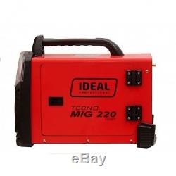 Ideal Tecnomig 220 Flux Mig Mag Mma Welder 200a Onduleur Gas & Gasless 1phase