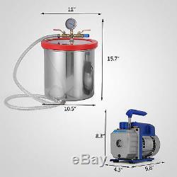 Kit De Chambre De 2 Gallons Avec Réfrigérant Local De Pompe À Vide 3cfm