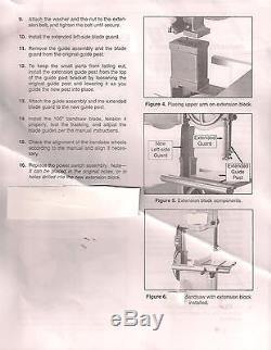 Kit Riser Block Pour Scie À Ruban Delta 14 Avec Échangeurs De Poteaux Hexagonaux Avec Delta 894