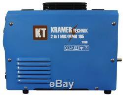 Kramer 185 Schweißgerät Mig Mag 160amp Fcaw Arc Mma Gaz & Ohne Gas Flux Igbt