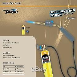 M. Torch Torche Turbo À Allumage Automatique Au Gaz Avec Tuyau De 3 ', Mapp Map-pro Propane