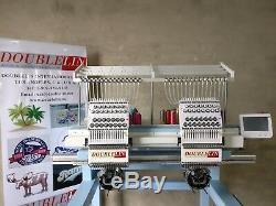 Machine À Broder Commerciale, Compact 2 Têtes, Nouveau, Nouveau Style, Les Deux Têtes Pleine Taille