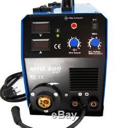 Machine À Souder Multifonction Mma Mag 2-en-1 Mig 200a Igbt Inverter Welder Uk