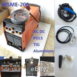 Machine De Soudure De Soudeuse De Tig D'impulsion De CC 220v Wsme-200 En Aluminium Tig-200 Tig-200p