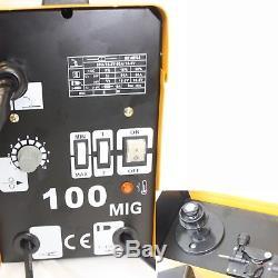 Mig 100 110v Machine De Soudure De Noyau De Flux Aucune Soudeuse De Gaz + Casque Assombrissant Automatique