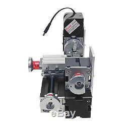 Mini-métal Motorisé Travaillant L'outil De Bricolage De Machine De Tour En Métal En Bois Noir