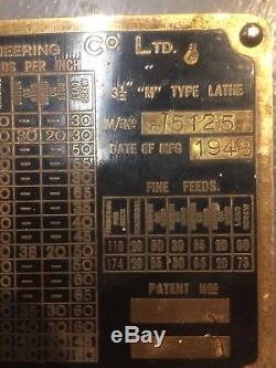 Myford M Type Paillasse 3 1/2 Pouces Tour En Métal, Ingénierie De Modèle, Atelier