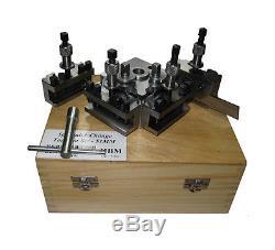 Rdgtools T63 Quickchange Toolpost Set Taille De Bantam Ennuyeux Vee Standard Parting