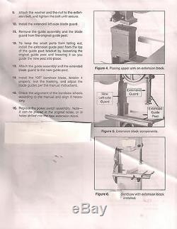 Riser Block Kit Ou Hauteur Attachement Delta 14 Scie À Ruban Avec 1 Poteau Rond Delta 894