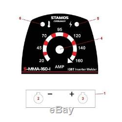 Schweißgerät Onduleur Mma E-hand Elektroden 160 Ampères Kabel 230v Profi Igbt Arc