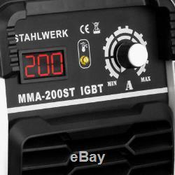 Schweißgerät Stahlwerk Arc 200 St Igbt-mma / Inverseur E-hand Mit Tatsächlich 200 A