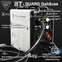 Schweißgerät Stahlwerk Mig Mag 135 M Igbt Avec Flux Mma / Fülldraht Geeignet