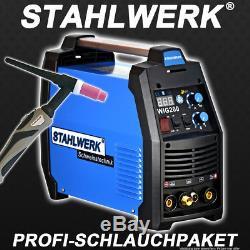 Schweißgerät Stahlwerk Wig 200 S DC Tig Hf Inverter Avec Mma E-hand / Antistick