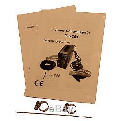 Schweißgerät Tig / Wig + Onduleur Mma 200 Hf-zündung + Schweißmaske + Zubehör