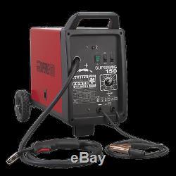 Sealey Supermig150 150amp Gaz Soudeur Unit + Fil, 0.6mm Conseils, Et Régulateur
